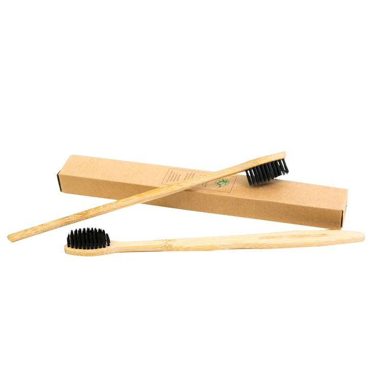 Lot de 2 brosses à dents en bambou (1 boite de 2)
